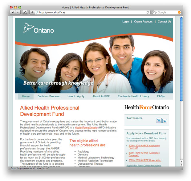 Allied Health Professions: Allied Health Professional Development Fund Gets New Web