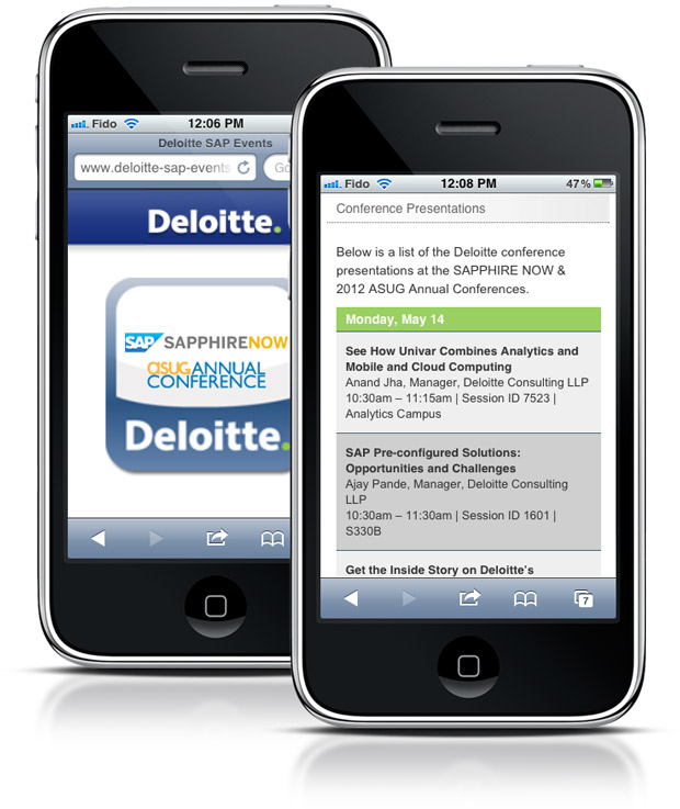 Deloitte SAP Mobile Site