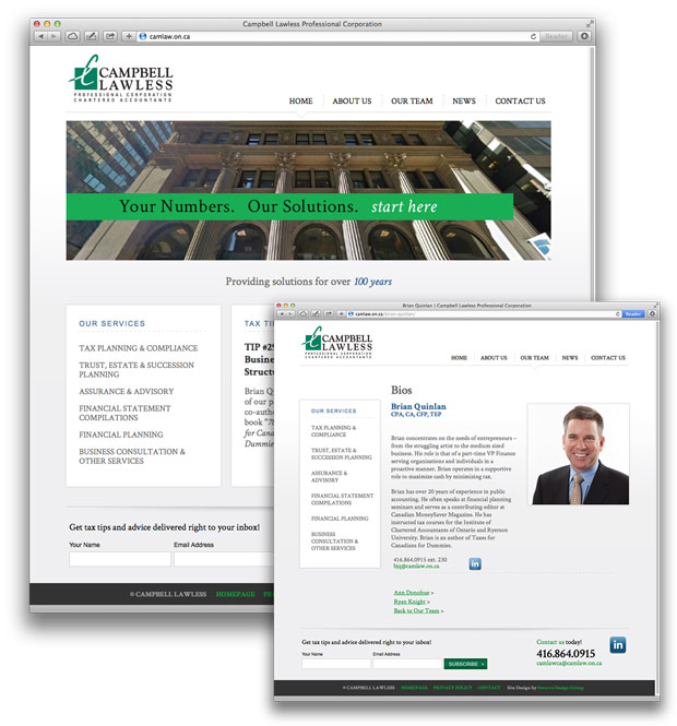website design for Campbell Lawless