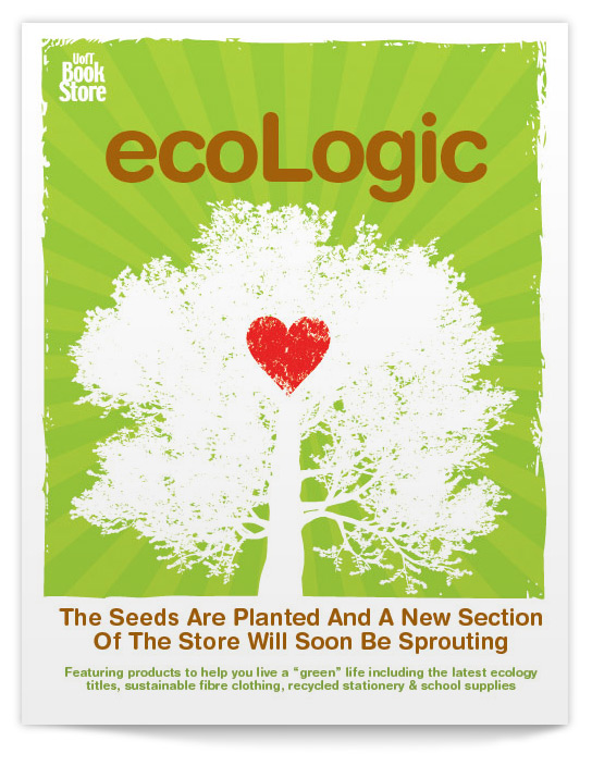ecoLogic Poster for UofT bookstore