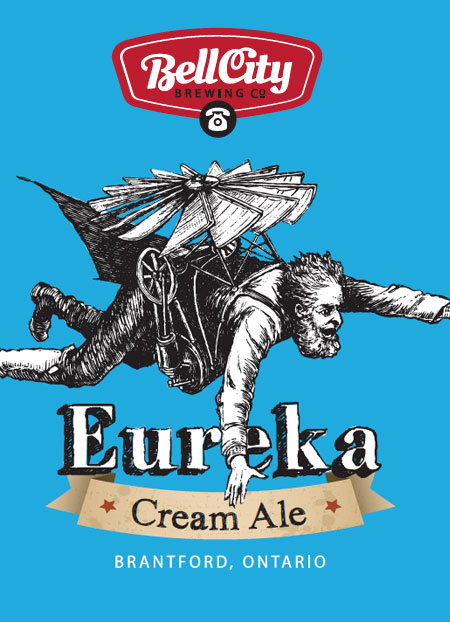 Eureka craft beer label design