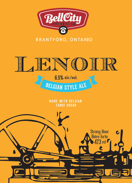 Lenoir craft beer label design