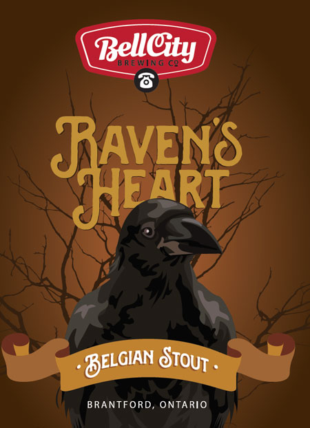Ravens Heart craft beer label design