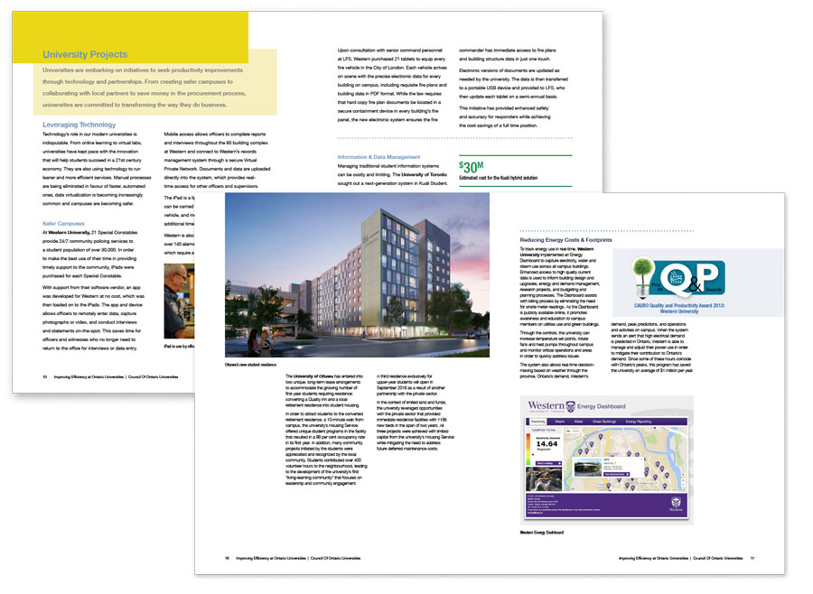 Inside page layout
