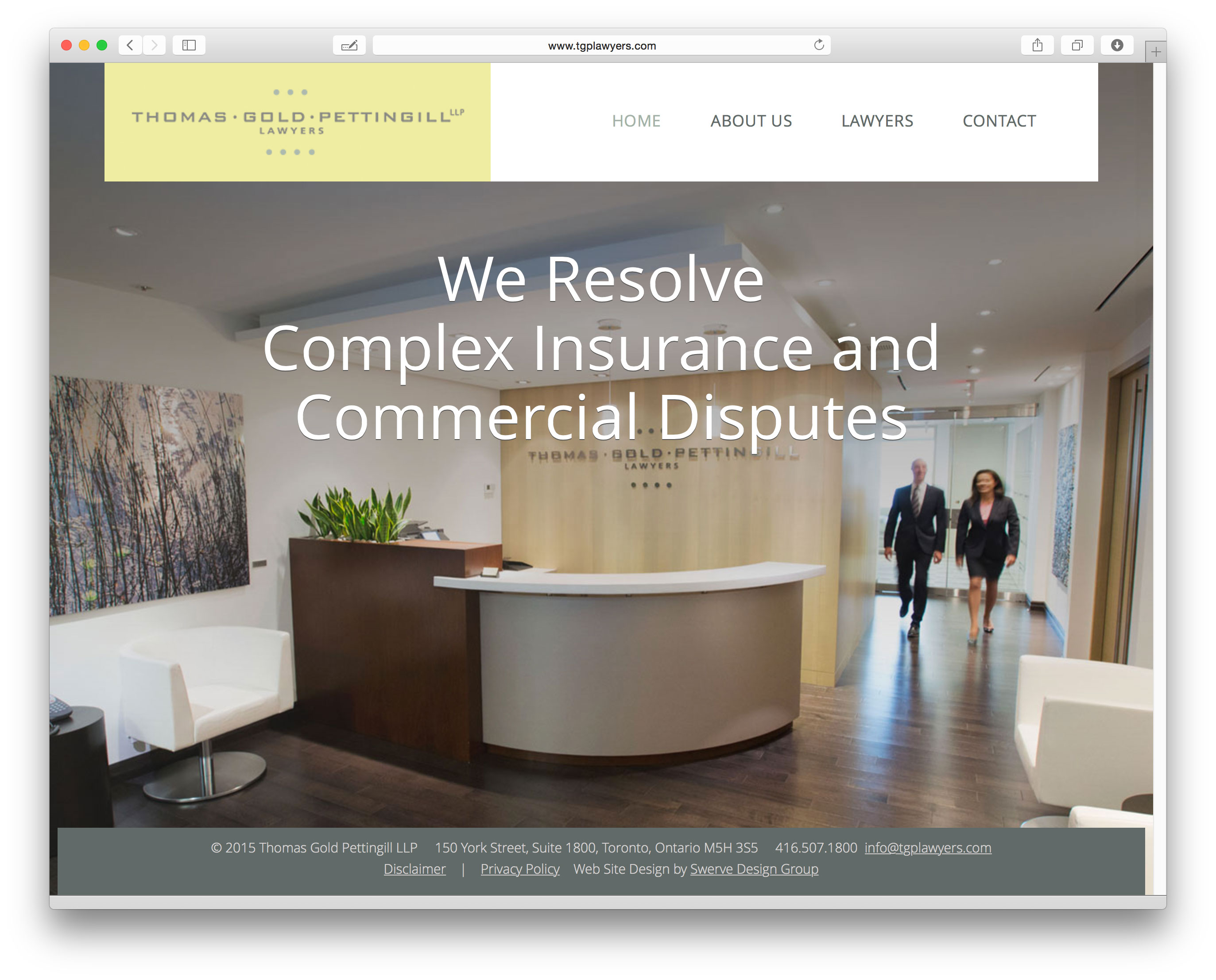 Law Website Design for Toronto firm TGP