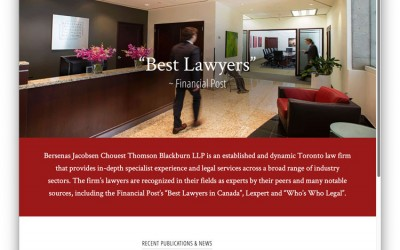 Law Firm Website Design: Lex Canada