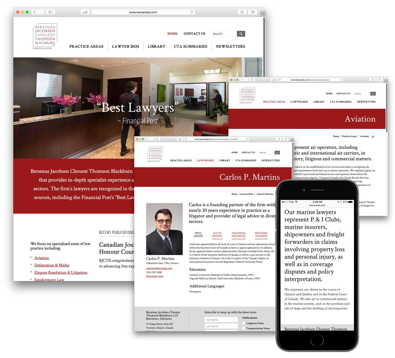 Award-Winning Law Firm Website Portfolio