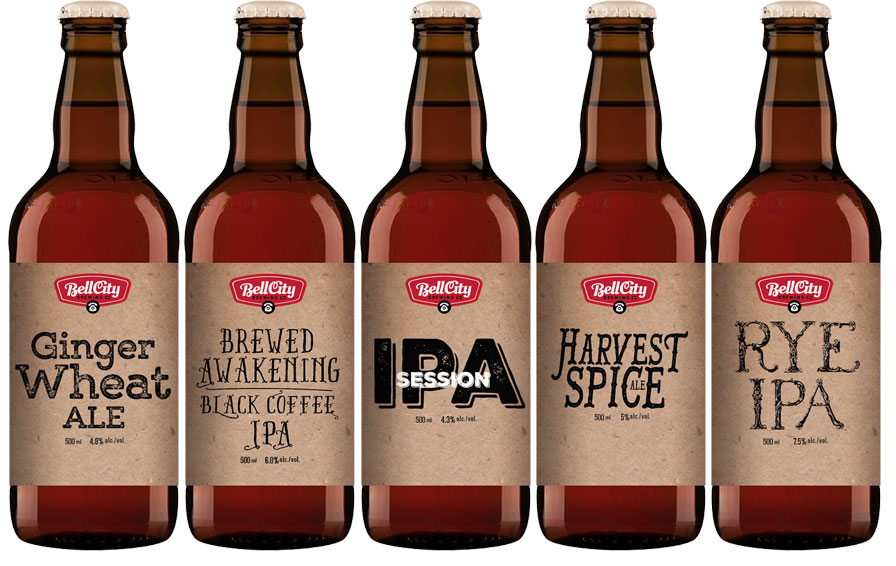 Product packaging design for craft beer