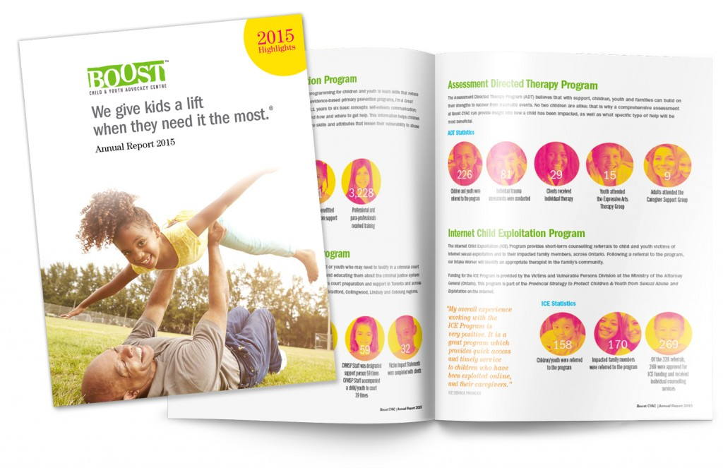 Boost annual report design 2015