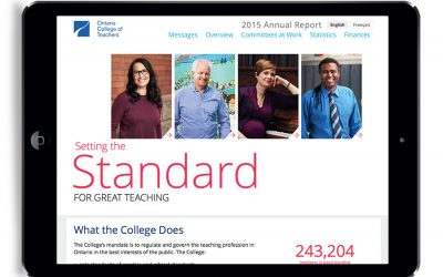 Online Annual Report for Ontario College of Teachers