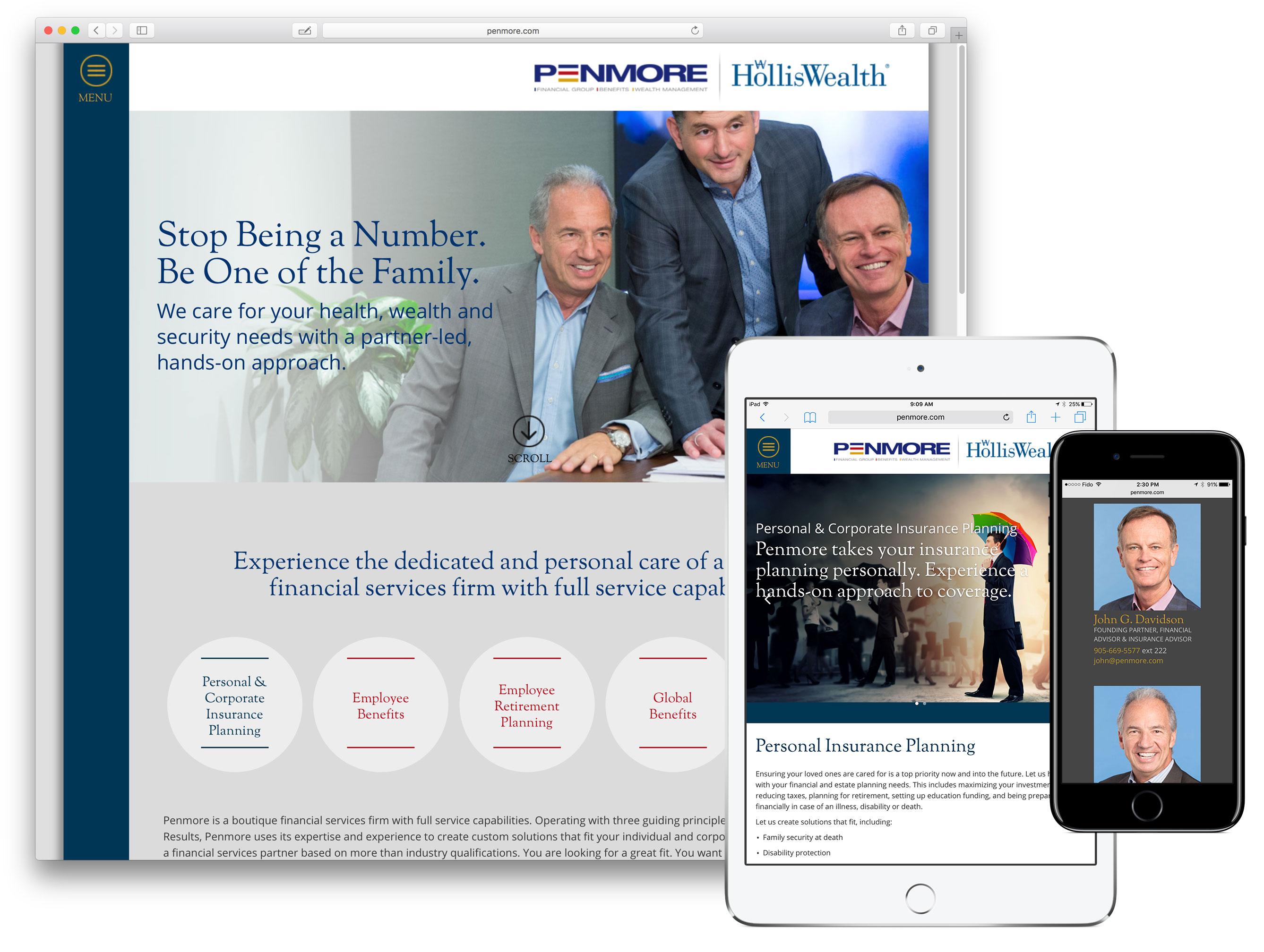 Website design for Penmore Financial