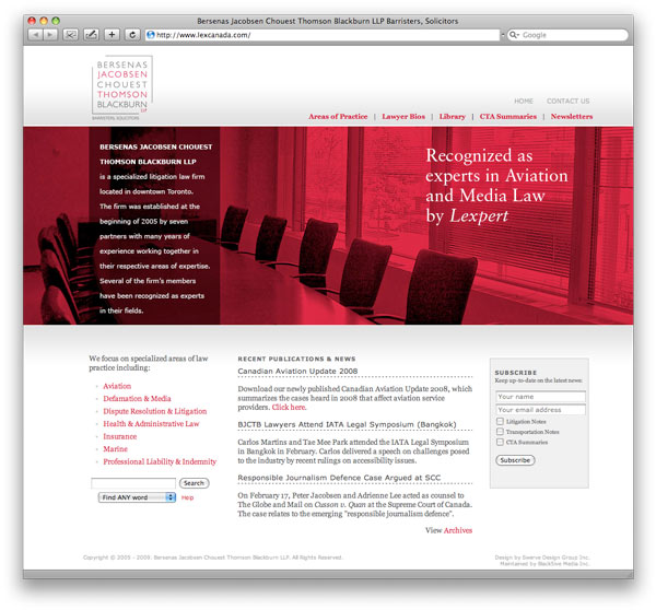 Lex home page