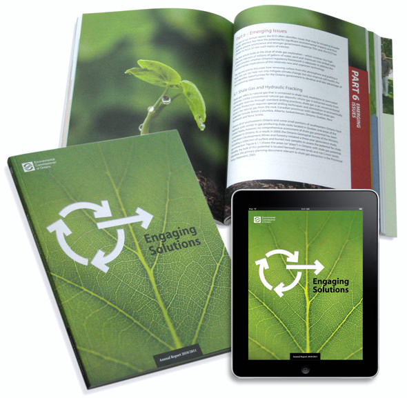 ECO 2011 Annual Report, design by Swerve Design Group, Toronto