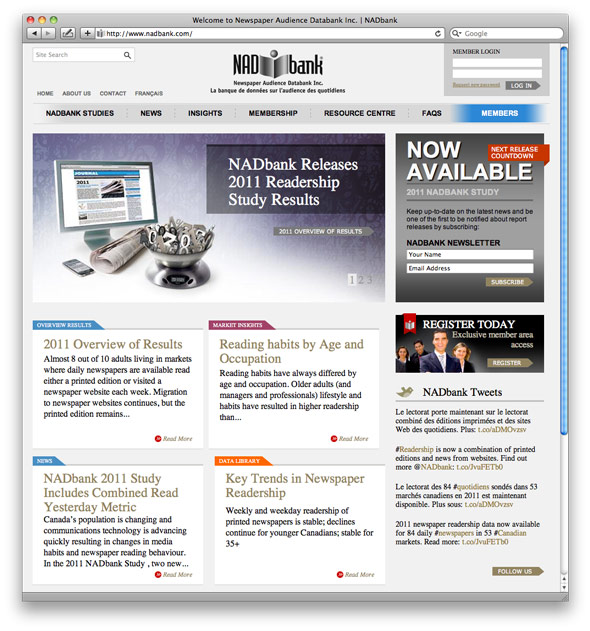 NADbank home page