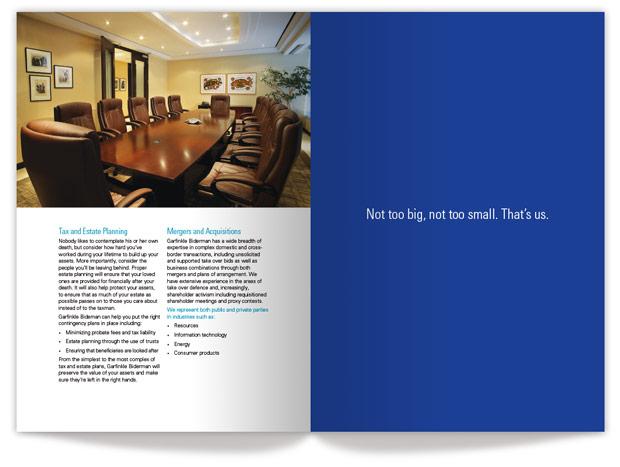 Garfinkle brochure inside design