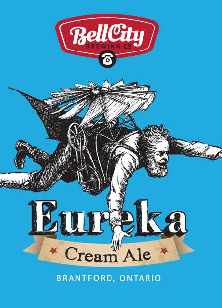 Eureka craft beer label design