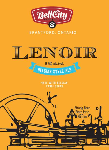 Lenoir craft beer label design