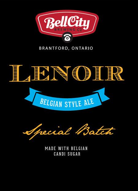 Lenoir Special craft beer label design