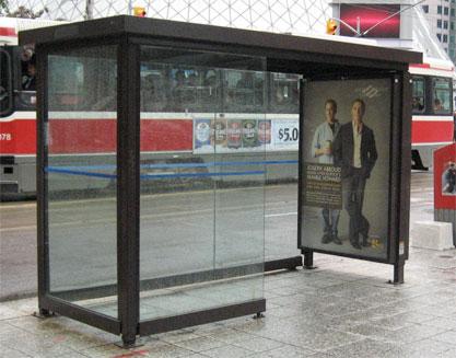 Transit shelter poster design