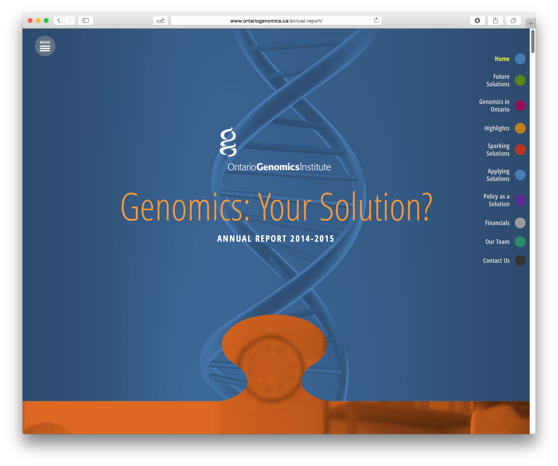 Ontario Geonomics website design by Swerve Design