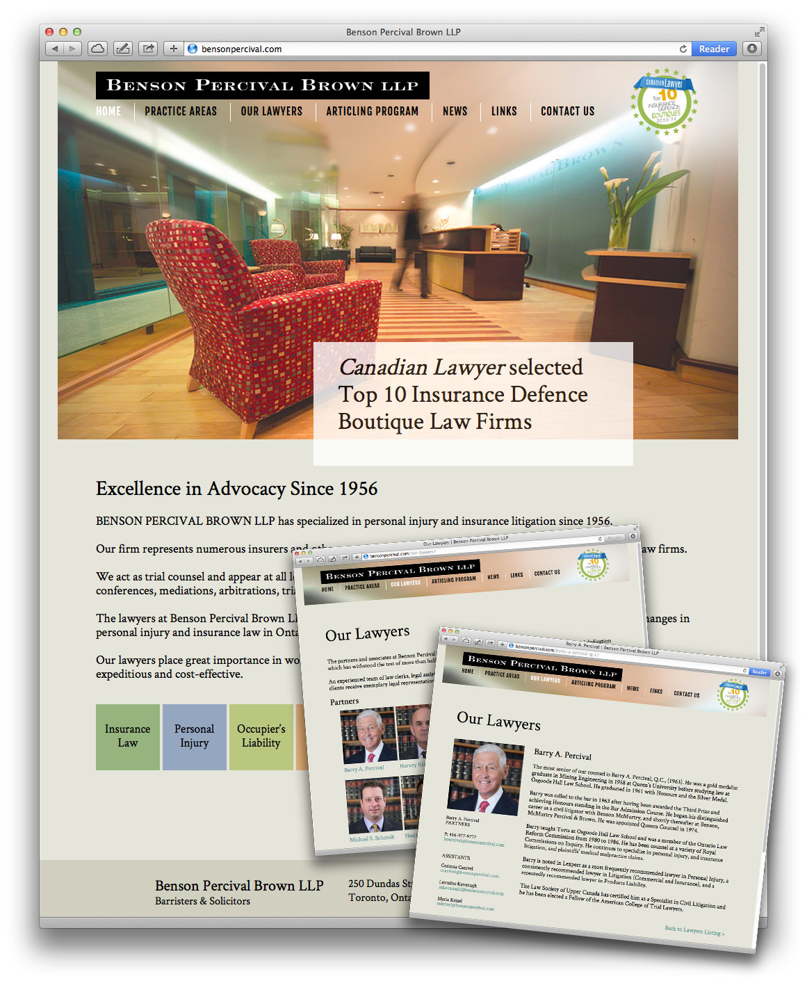 Law firm website design by Swerve Design Group