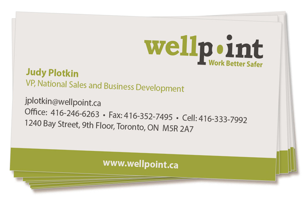 Business card design for Wellpoint