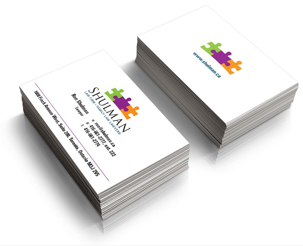 Business card design for Shulman