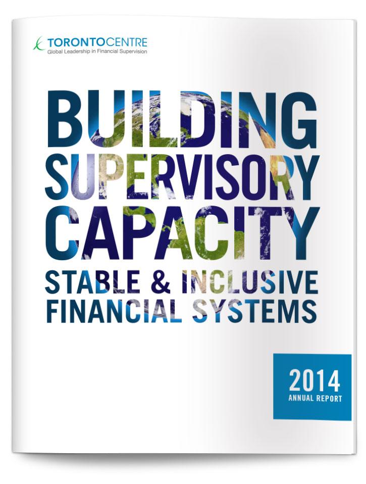 Annual Report design for Toronto Centre, cover