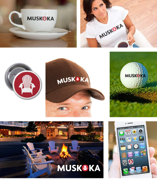 Muskoka logo design in use
