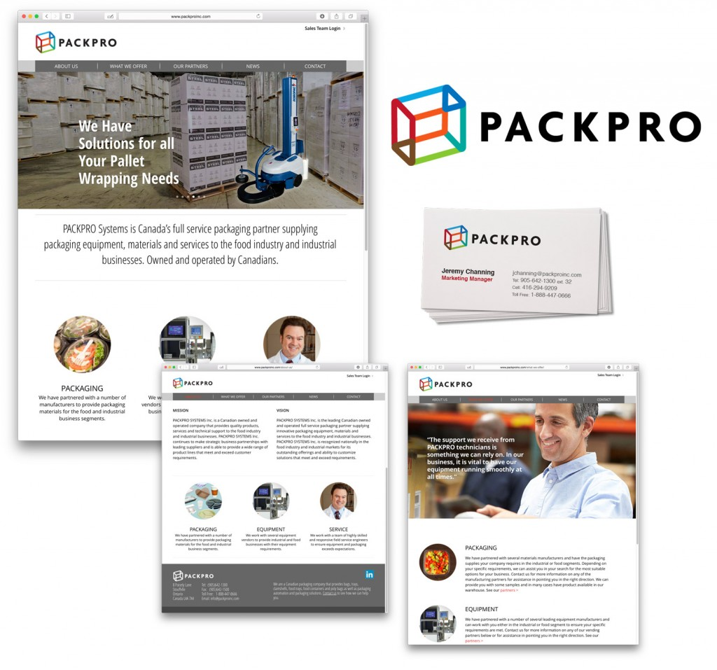 Packpro site and logo