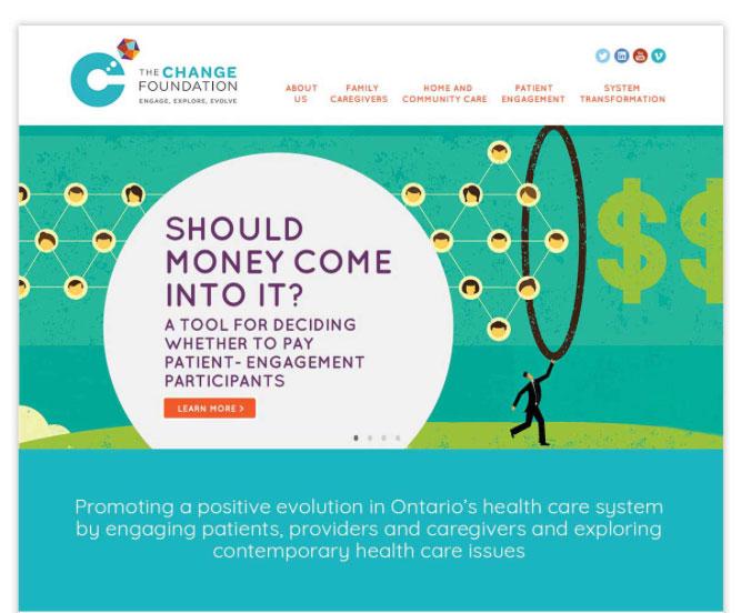 New website design for Health Non-profit
