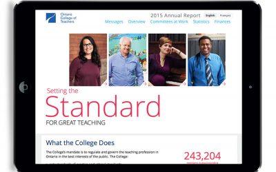 Online Annual Report Design for Ontario College of Teachers