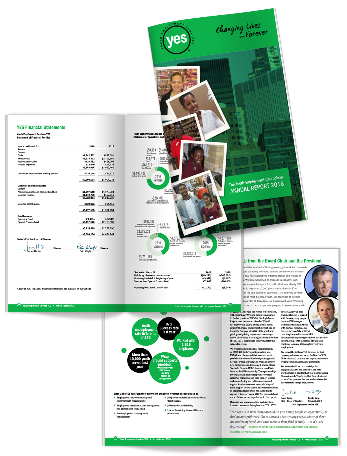 Annual Report Design for YES