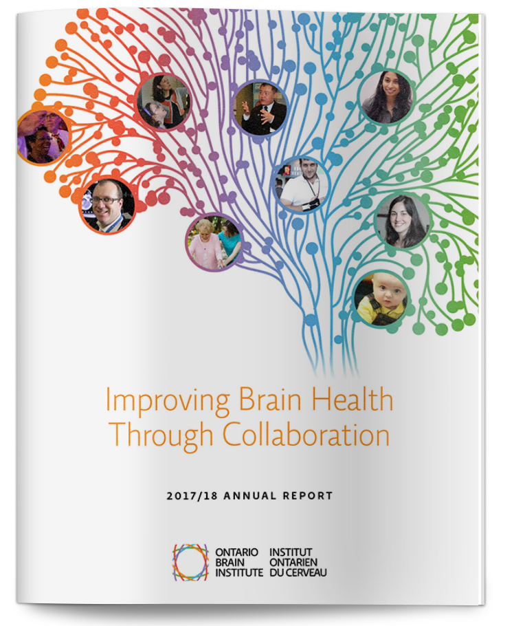 Ontario Brain Institute 2017 AR cover