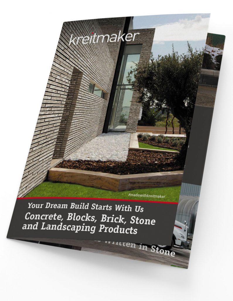 Kreitmaker brochure cover design with fold