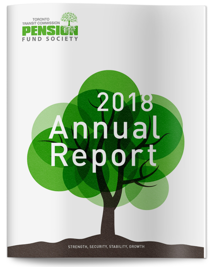 TTC Pension Fund annual report design cover