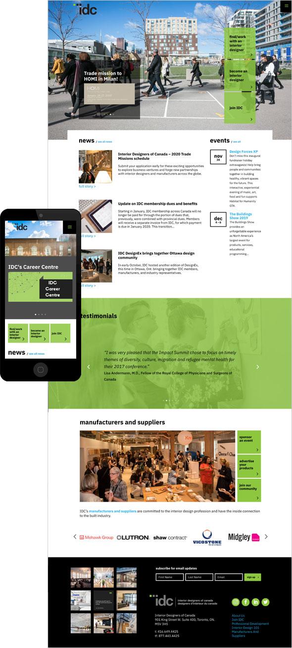 Member website design