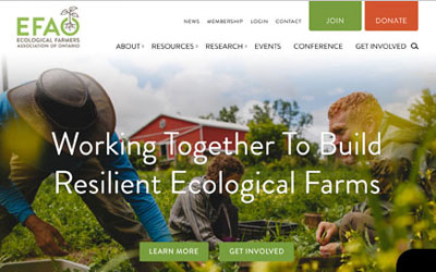 New Website Design for Nonprofit Farming Organization