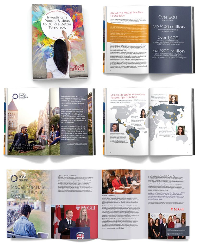 McCaul MacBain Impact report design