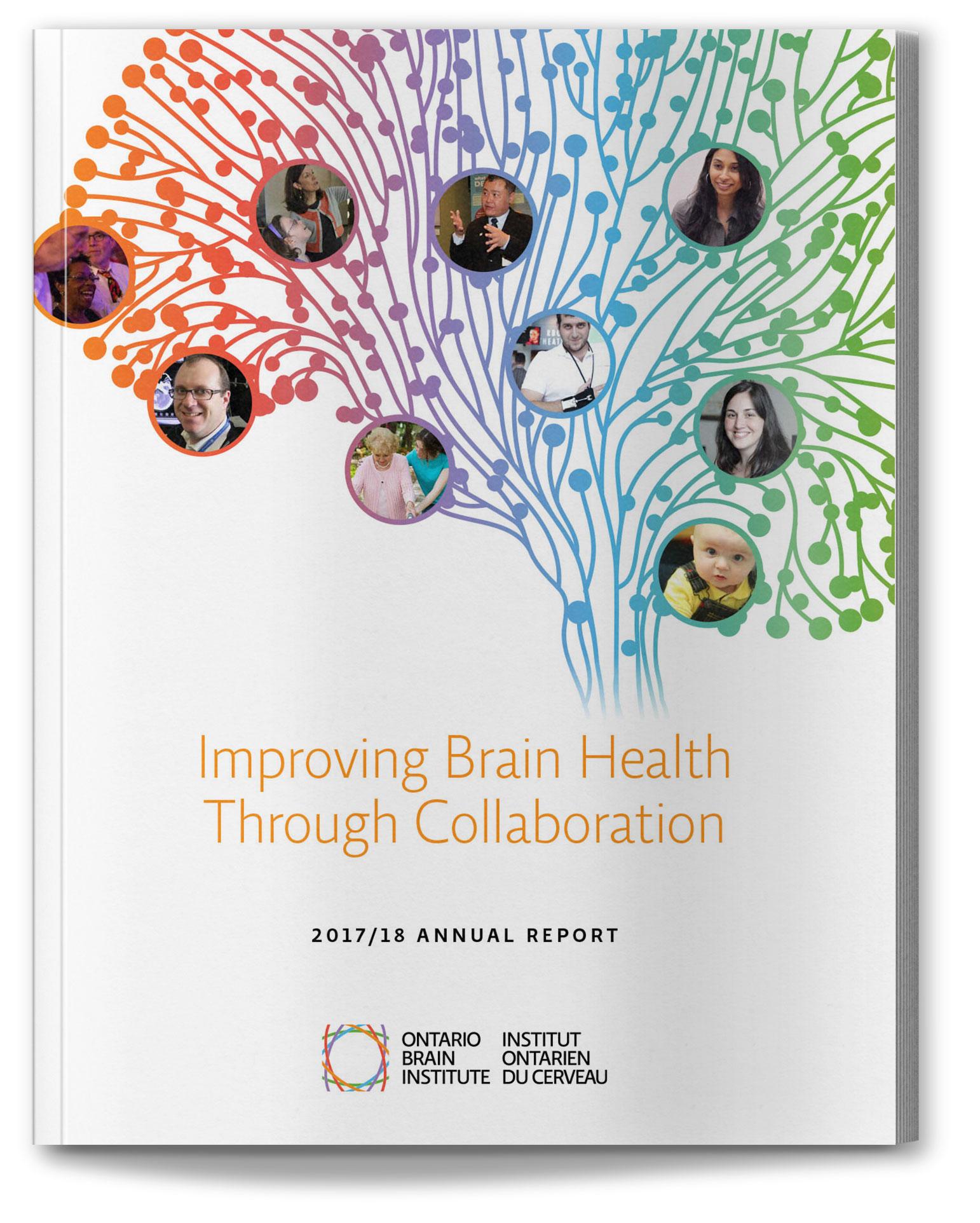 Ontario Brain Institute 2017/18 annual report design