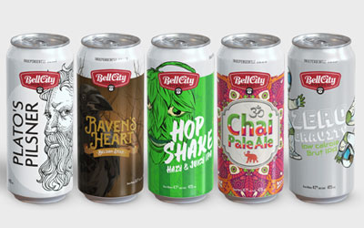 New beer packaging designs for brewery