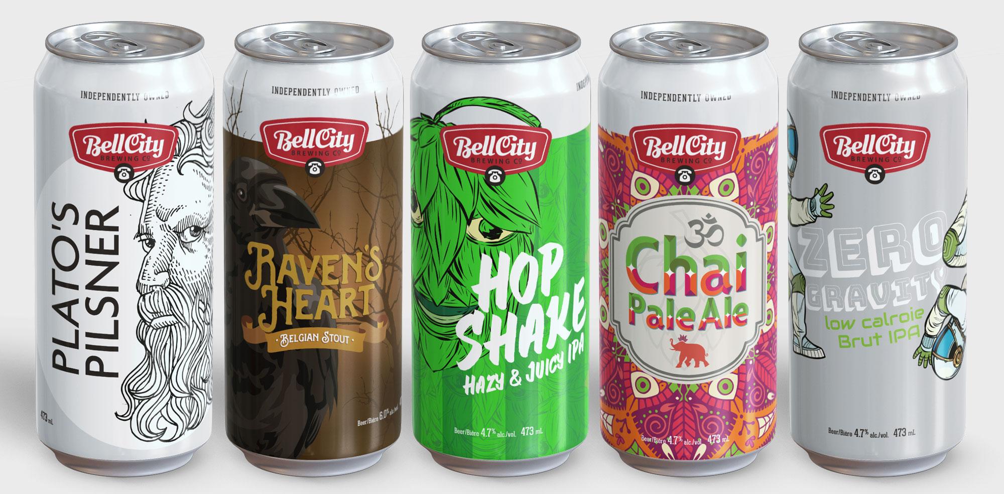 Beer packaging design in Toronto